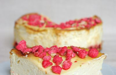 Cheesecake aux pralines roses