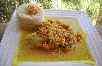 Trio de poisson au curry .