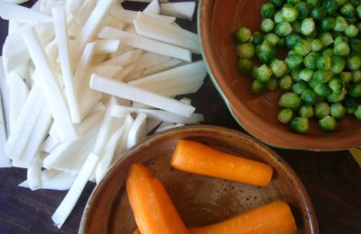Blanc orange vert