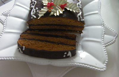 Pain d'épices fourré de ganache au chocolat