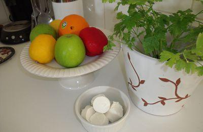 Petits chévres doux panés,accompagnés de poivrons