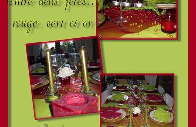tables entre deux fêtes ...