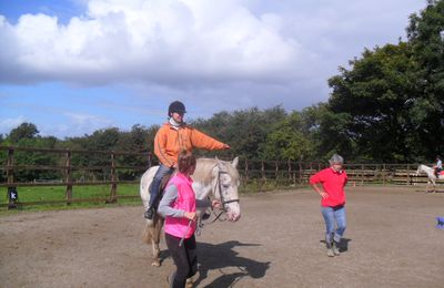 Horse riding for blind students