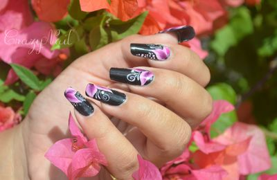 Nail Art One Stroke Fleurs Pointues