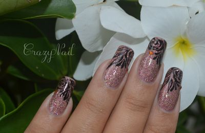 Roses Holographique - Nails Papillons