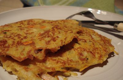 Galettes de Carottes au Surimi