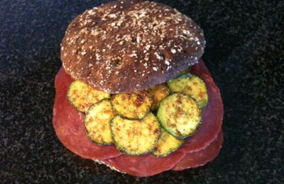 Sandwich volaille-courgette