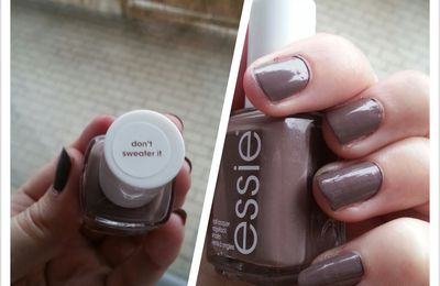 [NAIL] Test Vernis - Don't sweater it - Essie