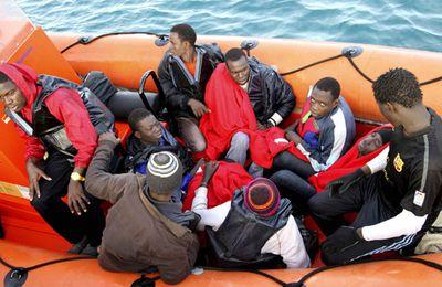 34 subsahariens à bord de 4 bateaux de plage tentent de traverser le détroit