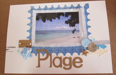 "Scrapbooking, page ""PLAGE"""
