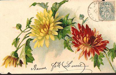 Carte ancienne florale