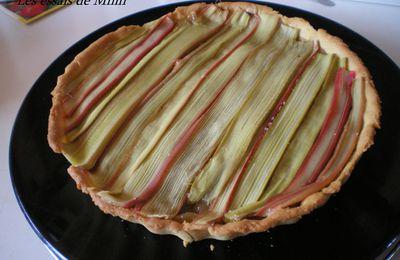 tarte à la rhubarbe façon Conticini