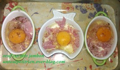 oeuf cocotte jambon