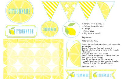 "free printable ""citronnade"""
