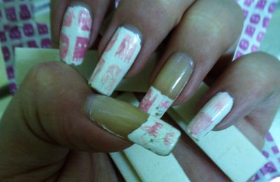 nail art chewing-gum