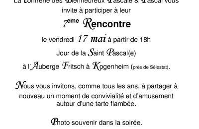 7eme rencontre des Pascale & Pascal à l'Auberge Fritsch à Kogenheim le 17 mai 2013