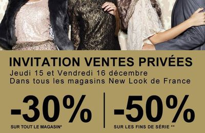 New Look nous invite à ses ventes privées...