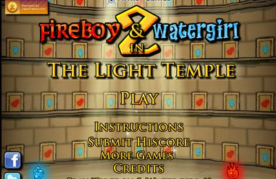 Fire boy & Water girl 2 : In the Light Temple