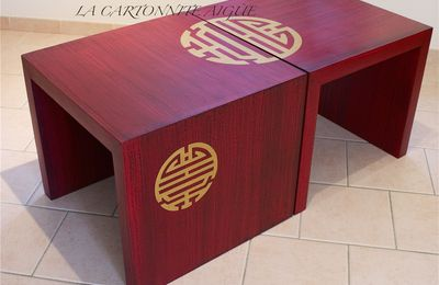DUO DE TABLES BASSES EN CARTON