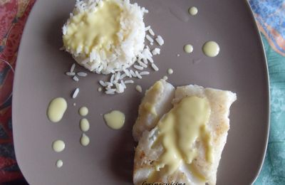 Cabillaud sauce hollandaise