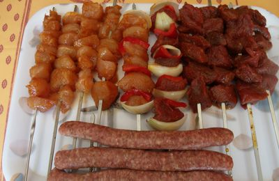 Assortiments brochettes au barbecue