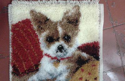 tapis chien terminé