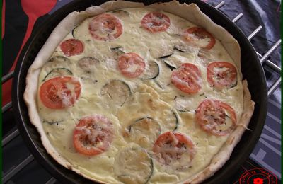 Tarte Courgettes-Tomates