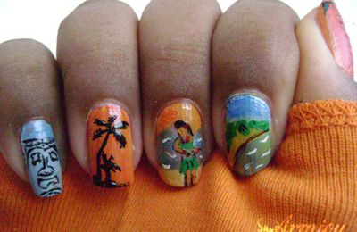 Nail art hawaii