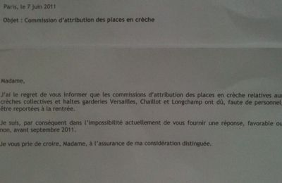 Pire que la lettre de refus, la lettre de report de la commission d'attribution !