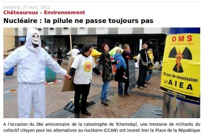 ARTICLE DE L'ECHOS : Tchernobyl Day 2012