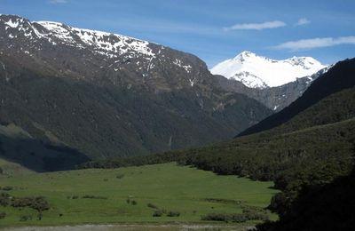 Rando photo dans le parc national d'Aspiring en Nouvelle Zélande