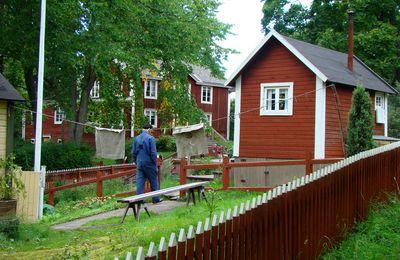 maison du monde : les maisons rouges de Suède et Norvège