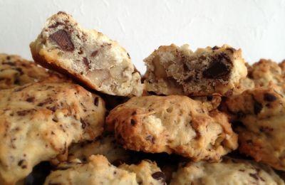 Cookies pommes cannelle chocolat noix