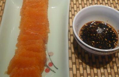 Mon saumon gravlax et sa sauce soja