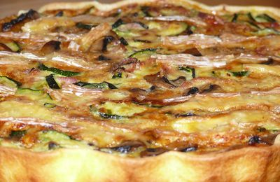 Tarte courgette - camembert