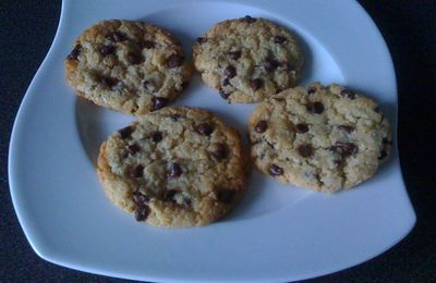 cookies son d avoine / pepites chocolat!