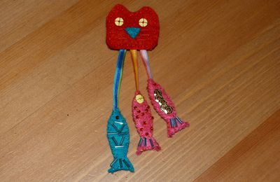Broche Chat - Poissons