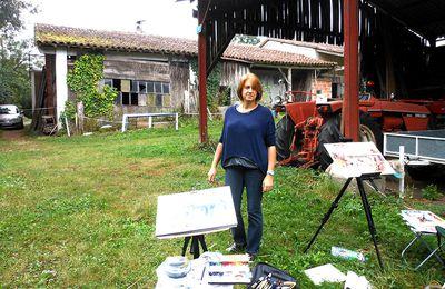 L'atelier extérieur, aquarelle Isabelle Seruch Capouillez
