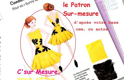 "Patron Sur-mesure ""Sunny summer yellow dress""."