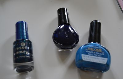 Swatch essence blue addicted