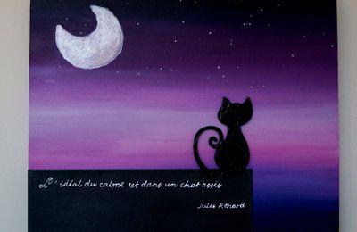 Chat au clair de lune