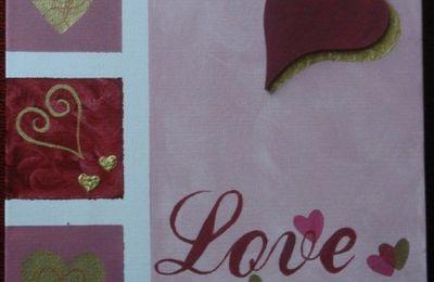 Coeur en rose - Premiers pas en Home Déco