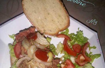 Humburger version tartine à couper