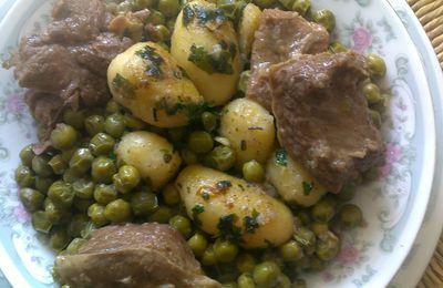 Tajine petits pois-pommes de terre