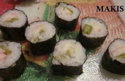 Maki de crevette et asperge