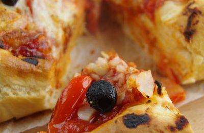 Pizza Italienne {Tomates, Mozzarella et Basilic}