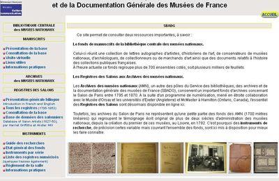 Les ressources en ligne des Archives des musées nationaux