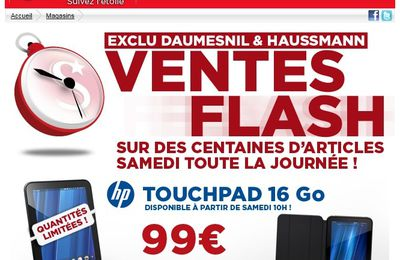 Stock HP TouchPad : Direction Surcouf !