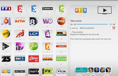 La FreeTv sur iPad2 - Free TV