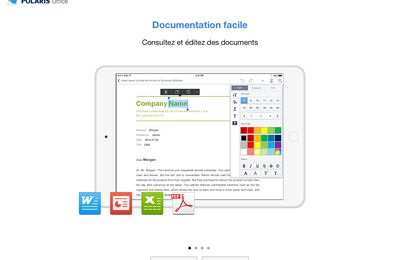 Encore Office gratuit sur iPad2 - Polaris Office